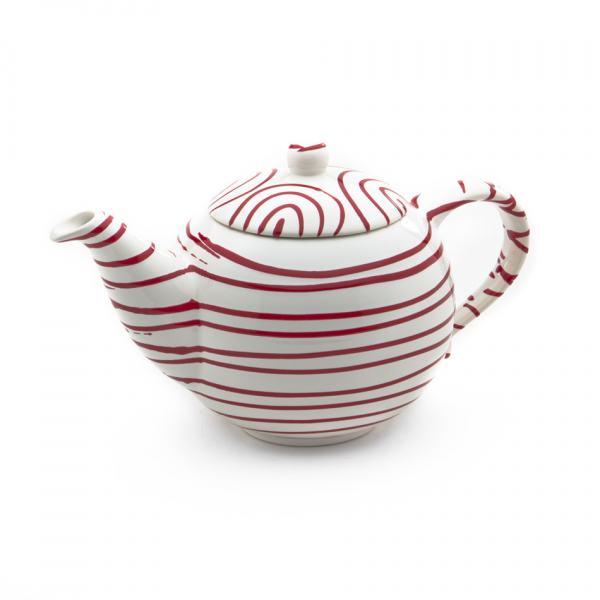 Gmundner Keramik Rotgeflammt Teekanne glatt 1.5L