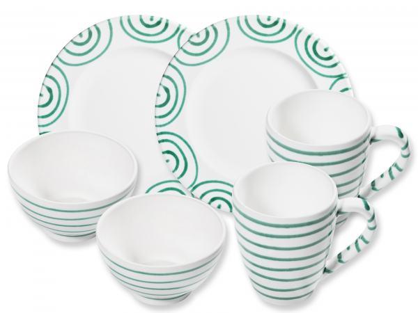 Gmundner Keramik Grüngeflammt Hüttenfrühstück Gourmet für 2