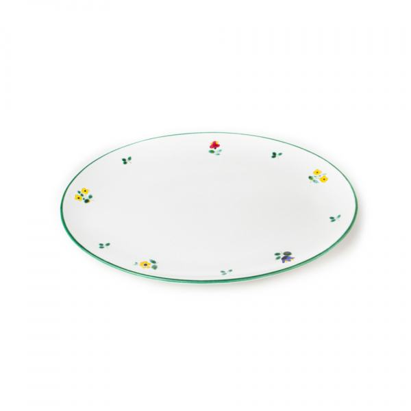 Gmundner Keramik Streublumen Platte oval 28x21cm