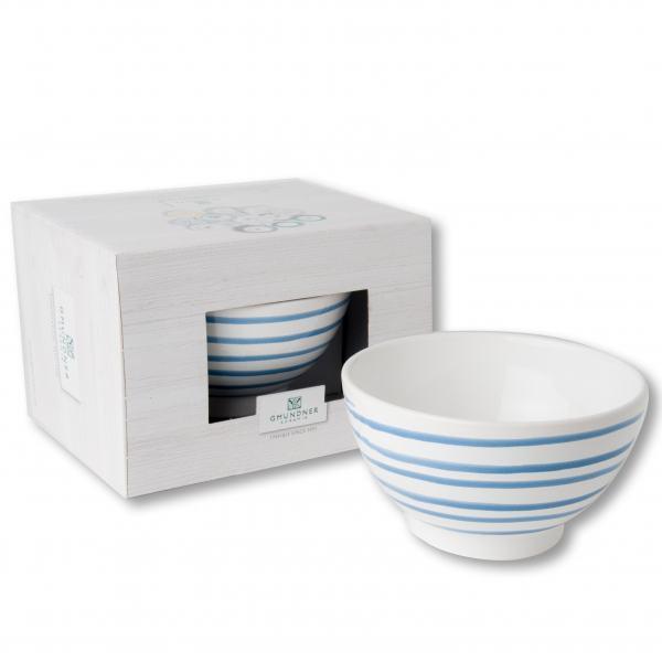 Gmundner Keramik Blaugeflammt Müslischale groß (0.4 L)
