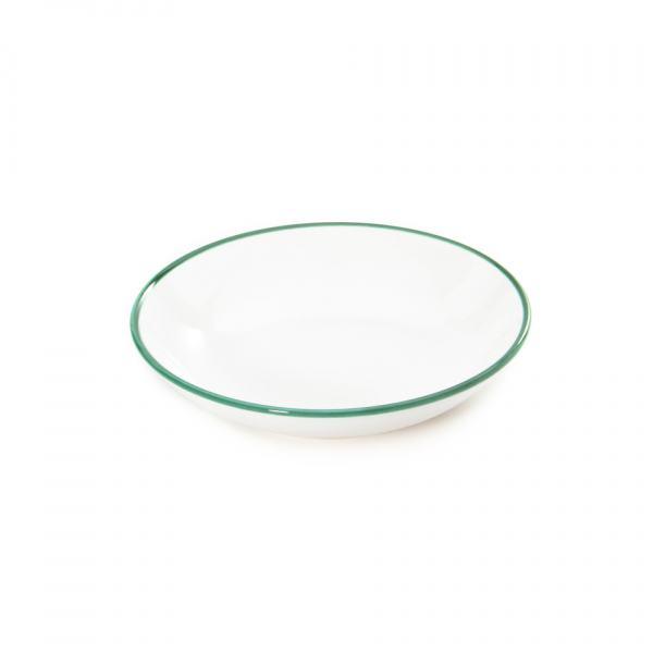 Gmundner Keramik Grüner Rand Suppenteller Cup (Ø 20cm)